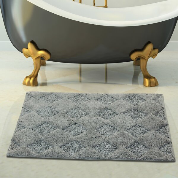 2 Piece 100% Soft Cotton Bath Rug Set by Saffron Fabs